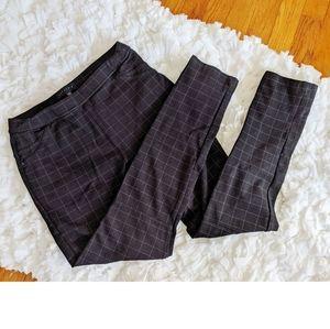Sanctuary Black Leggings Pants with PinSquarePrint